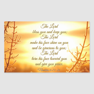 The Lord Bless You Numbers 6:24-26 Bible Verse Sticker
