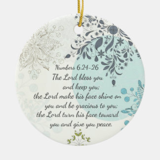 The Lord Bless You, Numbers 6:24, Bible Custom Round Ceramic Ornament