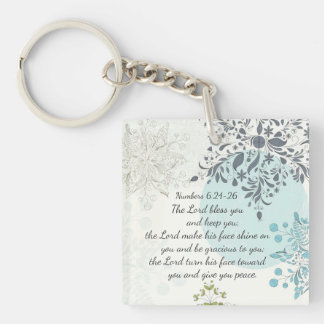 The Lord Bless You Numbers 6:24 Bible Verse Custom Keychain