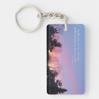 The Lord Created Them Double-Sided Rectangular Acrylic Keychain