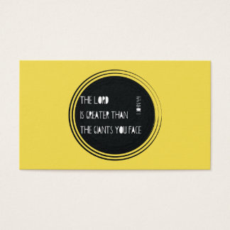 The Lord is Greater than... Business Card