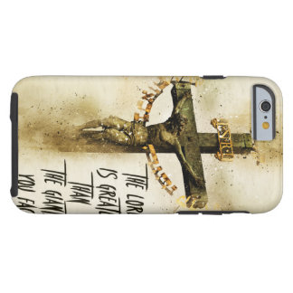 The Lord is greater than the giants you face. Tough iPhone 6 Case