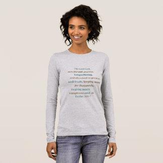 The Lord is Merciful Loving Forgiving Exodus 34 Long Sleeve T-Shirt