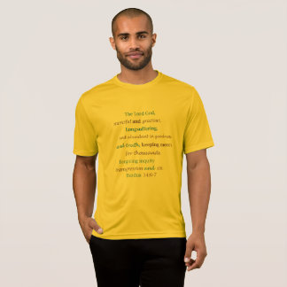 The Lord is Merciful Loving Forgiving Exodus 34 T-Shirt
