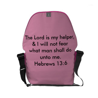 The Lord is my helper Courier Bags