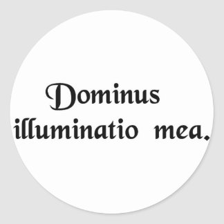 The Lord is my light Classic Round Sticker