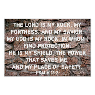 The Lord is My Rock Poster