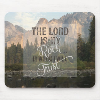 The Lord is my Rock - Ps 18:2 Mouse Pad