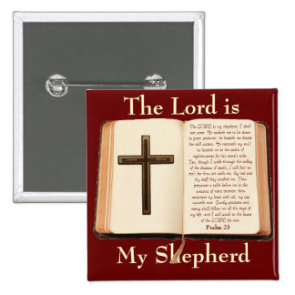 The LORD is My Shepherd 2 Inch Square Button