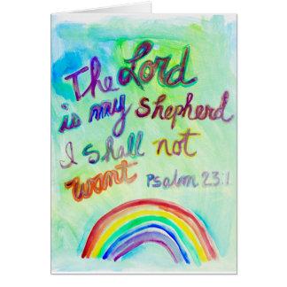 The LORD is My Shepherd 5x7 Greeting Card
