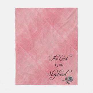 The Lord is my Shepherd Bible Verse Fleece Blanket