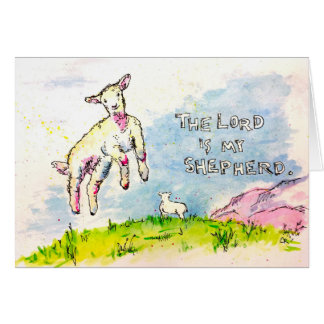 """The Lord Is My Shepherd"" Card"