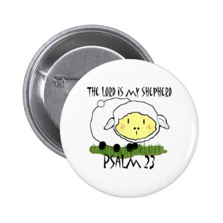 The LORD is my shepherd Psalm 23 2 Inch Round Button