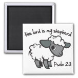 The Lord is my Shepherd Square Magnet