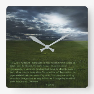 The LORD is my Shepherd Square Wall Clock