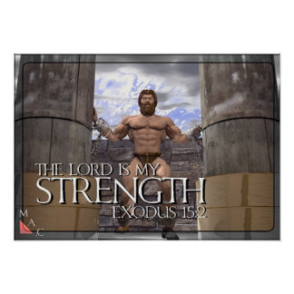 The Lord is My Strength Poster