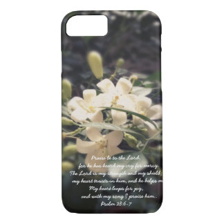 The Lord is my Strength & Shield - Jasmine iPhone iPhone 7 Case