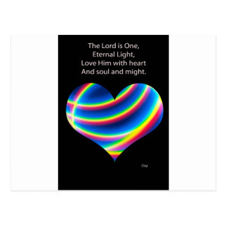 The Lord is One Postcard