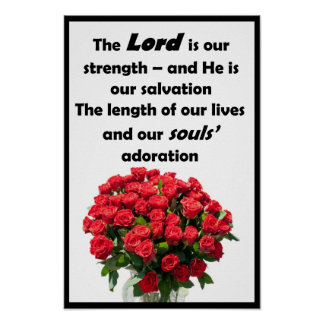 "The Lord is our Strength - 12"" x 18"" Poster"