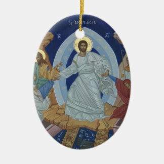 The Lord Jesus Christ Resurrection Icon Ceramic Ornament