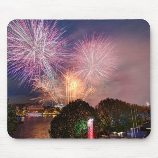 The Lord Mayor's Fireworks, Southbank London Mousemats