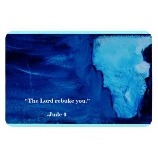 THE LORD REBUKE YOU RECTANGULAR PHOTO MAGNET