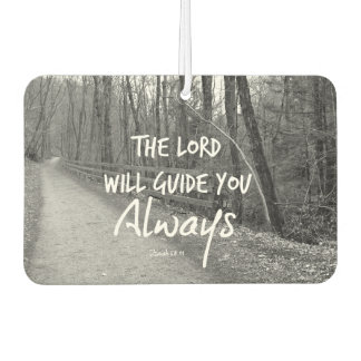 The Lord will Guide You Bible Verse Car Air Freshener