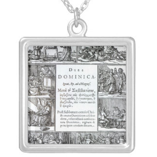 The Lord's Day, 1639 Silver Plated Necklace