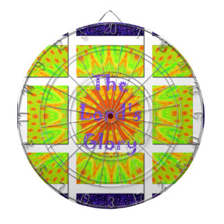 The Lord's Glory Pattern Graphic Text Design Dartboard