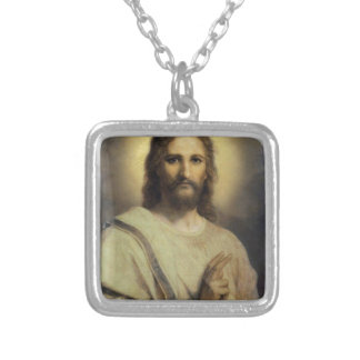 The Lord's Image - Heinrich Hofmann Silver Plated Necklace