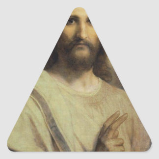 The Lord's Image - Heinrich Hofmann Triangle Sticker