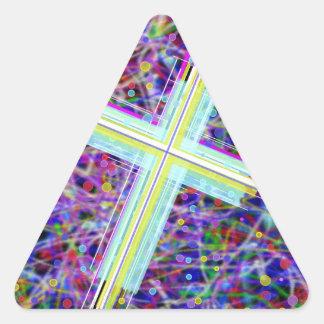 The Lords Kingdom in Multi-Colors. Triangle Sticker