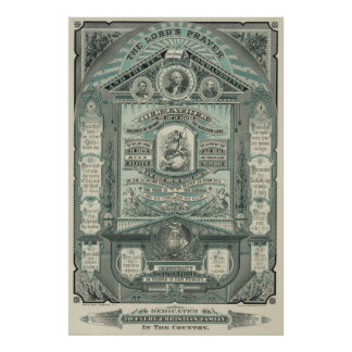 The Lord's Prayer and the Ten Commandments [1882] Poster