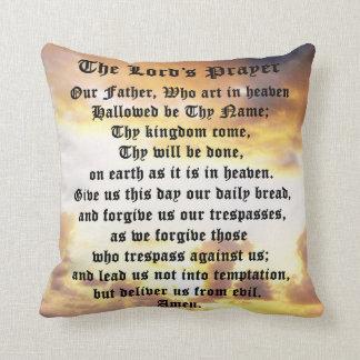 The Lord's Prayer, Cotton Pillow, Sunrise. Throw Pillow