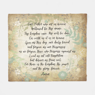 The Lord's Prayer Fleece Blanket