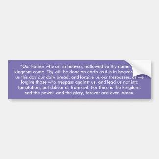 """The Lord's Prayer"" Inspirational Bumper Sticker"