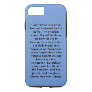 """The Lord's Prayer"" Iphone 7 Cell Phone Cover"