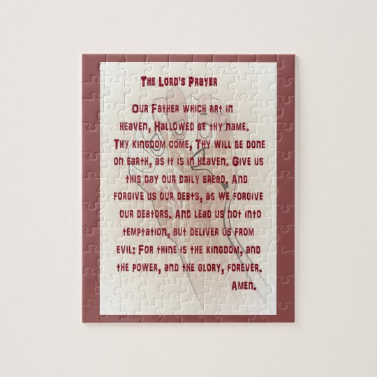 The Lord's Prayer Jigsaw Puzzle