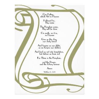 The Lords Prayer Letterhead Design