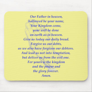 The LORD's Prayer Mousepads