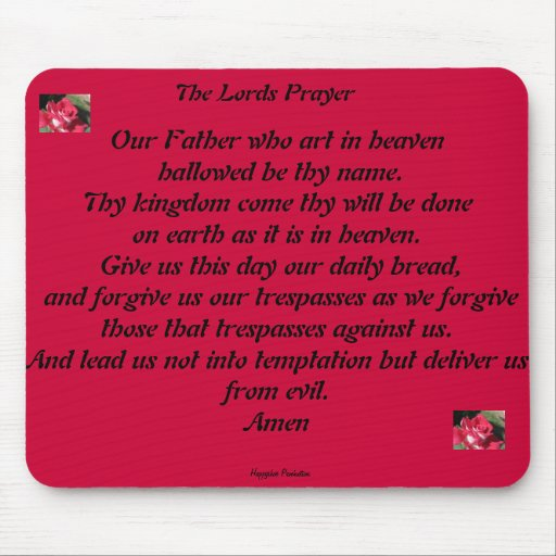 The Lords Prayer Mouse Pads