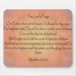 The Lord's Prayer, Orange Vintage Background Mousepad