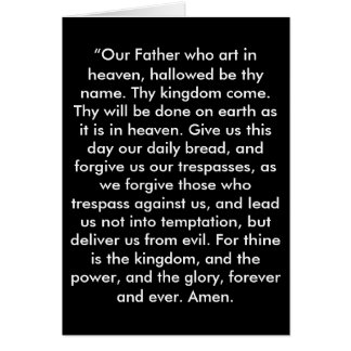 """""""The Lord's Prayer"""" Scripture Greeting Card"""