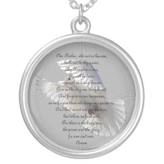 The Lord's Prayer Silver Plated Necklace
