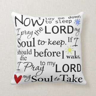 The Lords Prayer Sleepy Time Pillow Blue Back