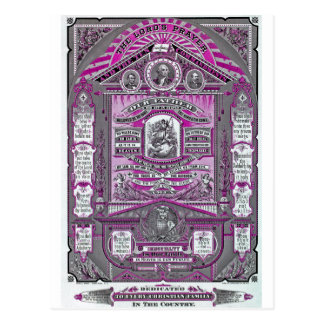 The Lord's Prayer vintage engraving (Pink) Postcard