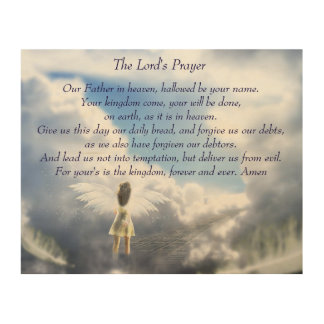 The Lord's Prayer Wood Wall Art