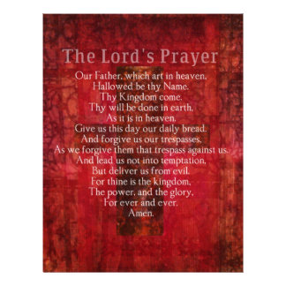 The Lord's Prayer Words traditional Personalized Letterhead