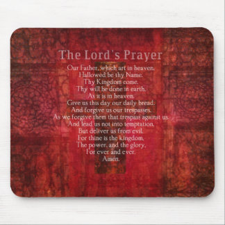 The Lord's Prayer Words traditional Mouse Pads