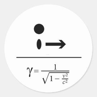 The Lorentz Factor Classic Round Sticker